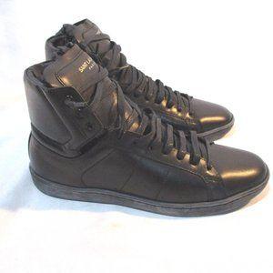 NEW YSL SAINT LAURENT PARIS Leather Hi Top Sneaker